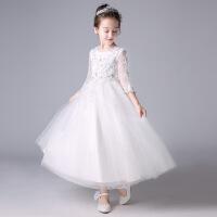 儿童公主裙子春秋装女童连衣裙女宝宝春季白色纱裙小女孩
