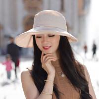 户外运动女士帽子时尚潮百搭韩版折叠太阳帽女防晒出游可折叠遮阳帽