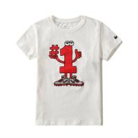 耐克(NIKE)新款 SPORTSWEAR儿童休闲T恤 运动短袖 86D339-001纯白色