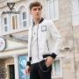马克华菲夹克男2018春季新款韩版春秋飞行员白色运动棒球服外套潮