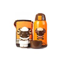 【当当自营】杯具熊(BEDDYBEAR) 儿童保温杯带吸管 不锈钢水杯 儿童保温壶学生水杯630ml 橙色小羊