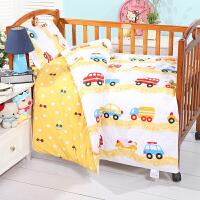 全棉幼儿园被子三件套含芯床上用品六件套被褥儿童宝宝卡通加厚冬