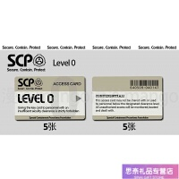 scp卡贴黑卡基金会门禁卡等级卡制作卡贴定制饭卡学生diy定做 level 0