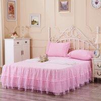 晚歌WANGE家纺蕾丝花朵印花床裙单品床罩席梦思防尘罩浪漫花都单双人床1.2米1.5米1.8米2.0米