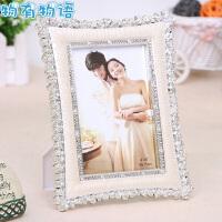 物有物语 相框 欧式婚纱影楼小玫瑰花摆台相框创意结婚礼物 送女友