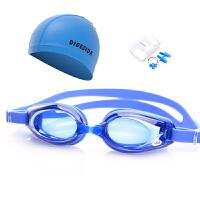 泳镜泳帽套装防雾儿童男女士大框游泳镜舒适鼻夹耳塞