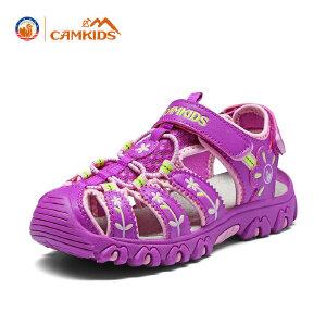 CAMKIDS女童鞋儿童凉鞋女童包头中大童透气沙滩鞋2018夏季