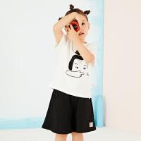 【2件2.5折:89元】马拉丁夏季新品商场同款女小童趣味印花俏皮可爱套装