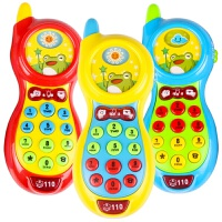 婴儿玩具手机 儿童早教音乐小孩玩具电话机宝宝0-1-3岁 美贝乐手机 颜色随机