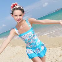 新款时尚儿童连体泳衣裙女大童泳衣女童游泳衣儿童泳衣 女孩 学生