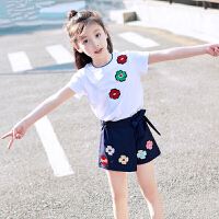 女童夏装连衣裙新款女孩公主裙韩版两件套裙子