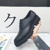 新款男鞋透气休闲鞋秋季板鞋男韩版潮流 黑色