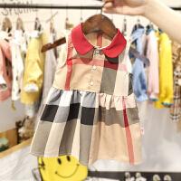 1-6岁女宝宝连衣裙小女童夏装韩版复古裙子3女婴儿格子背心裙