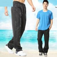 新款男士休闲运动裤户外宽松大码跑步裤子运动长裤薄款运动裤男休闲长裤