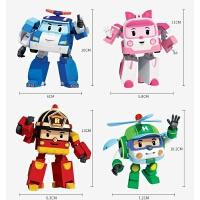 变形警车珀利机器人 poli警长大号儿童男孩玩具车飞机