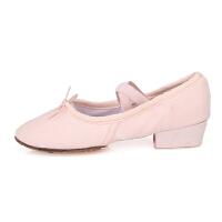 教师鞋布女式民族舞蹈鞋软底带根练功鞋肚皮舞儿童芭蕾舞鞋