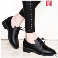 雅诗莱雅韩版百搭粗跟单鞋女士休闲鞋春鞋英伦小皮鞋春季新款中跟女鞋 YS-3330-C