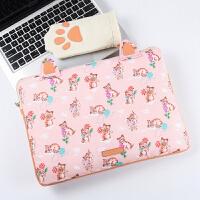 惠普al笔记本电脑包女内胆包13.3 14寸通用联想小新 yoga710s保护套 小猫咪 13寸