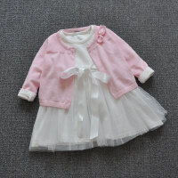 春夏女童披肩外套2018薄款婴儿长袖短款针织衫女宝宝毛衣0-1-3岁