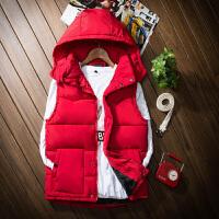 青少年初中学生大童男孩秋冬装外套12-13-14-岁马甲背心棉衣服 X
