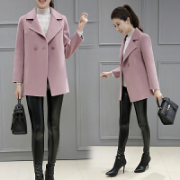 双面羊绒大衣女新款小个子羊毛呢子秋冬季外套女短款修身显瘦