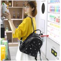 双肩包女韩版潮包女士双肩包背包女韩新款 百搭书包女个性背 可礼品卡支付