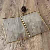 欧式金属相框创意办公室摆件现代简约摆台婚庆玻璃标本夹画框