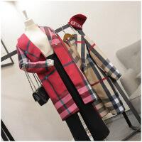春季新品显瘦中长款长袖韩版风衣外套女潮 50817