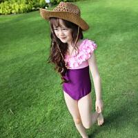 儿童泳衣女孩公主连体游泳衣韩国女童宝宝泳装亲子母女装夏装新款