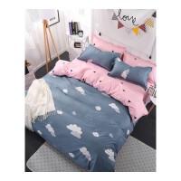 床上三件套 宿舍床单式被褥套装加厚保暖床单被罩简约学生床品套件