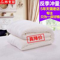 纯棉花被芯新疆棉絮床垫秋季冬被全棉单人学生宿舍加厚保暖棉被子