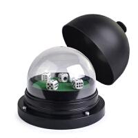 棋牌麻将大号电动装电池塑料防作弊色盅筛盅骰盅带5颗筛子带可拆卸透明罩