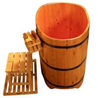 {夏季贱卖}香柏木桶浴桶泡澡桶小户型浴室实木洗澡盆大人沐浴缸家用身