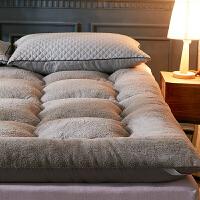 伊丝洁家纺加厚10CM羊羔绒床垫双人保暖榻榻米垫被1.5米1.8m床褥学生宿舍子 10cm羊羔绒床垫 - 灰色