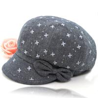 女式老人时装帽子夏天中年女帽韩版贝雷帽薄款中老年春秋季妈妈帽