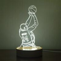 科比退役纪念背景3D小台灯科比退役纪念品送友佳品生日礼物