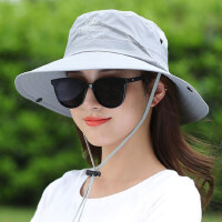 户外遮阳帽子女韩版潮百搭日系太阳帽折叠遮脸防晒渔夫帽