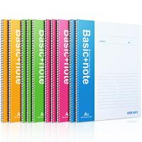 Deli/得力7683螺旋60页A5日记本 书写方便流利 笔记本记事本 单本价