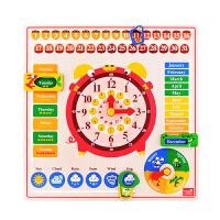 时钟拼图儿童玩具木质拼板宝宝立体早教益智男孩女孩
