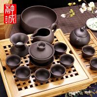 紫砂功夫茶具套装家用紫泥泡茶壶紫砂壶整套茶壶茶杯礼品盖碗定制