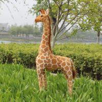 长颈鹿毛绒玩具公仔超大号仿真动物抱枕摆件布娃娃儿童生日礼物 仿真长颈鹿