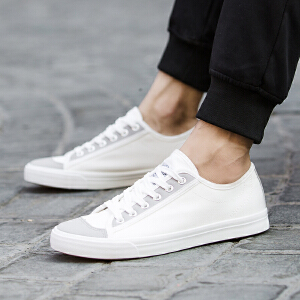 帆布鞋男低帮秋季韩版潮流透气小白鞋学生鞋子男休闲板鞋回力男鞋