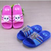 夏季新款儿童凉拖鞋卡通图案男女中童室内家居防滑拖鞋