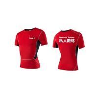 春秋款运动T恤定制 男篮球足球跑步私人教练紧身吸汗速干打底短袖