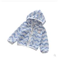 儿童防晒衣女夏季男童条纹空调衫1-2-3岁宝宝超薄透气防晒服外套0