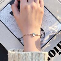 银手链女韩版简约学生森系闺蜜水晶手链
