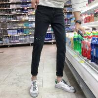 九分牛仔裤韩版修身小脚裤潮流百搭9分男裤子