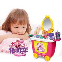 小女孩女童公主�^家家梳�y�_玩具�和�化�y品�l�品盒玩具套�b