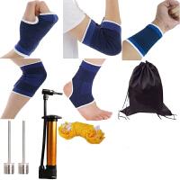 篮球护腕护膝盖护肘护踝跑步运动男女跳舞蹈护具护掌套装儿童薄款 ++