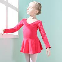 儿童舞蹈服女童练功服秋冬长袖幼儿芭蕾舞裙小女孩练舞衣跳舞裙子